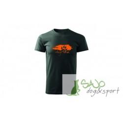 Koszulka - Łapka pomarańczowa - antracyt