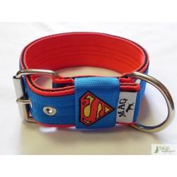 "Obroża ""Superman"" niebieski"