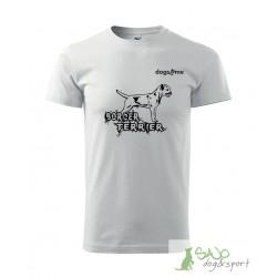 Koszulka - D4M - border terrier - biały
