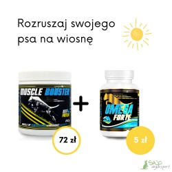 Pakiet Muscle Booster (250 g) + Omega Forte