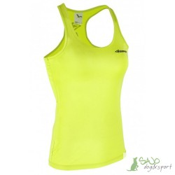 Koszulka damska bez rękawów żółta