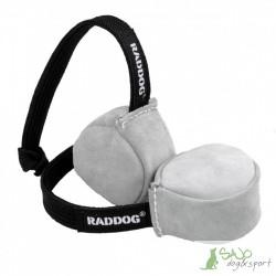 Piłka skórzana ze sznurkiem mała Raddog