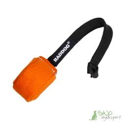 Piłka ring ze sznurkiem mała pomarańczowa Raddog